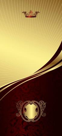 Royal Crown Curve Background 1 Illustration