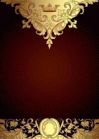 corona real: Estilo victoriano fondo floral