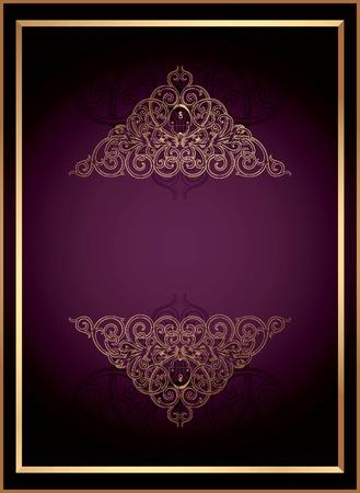 golden texture: Vintage Floral Frame Background 1 Illustration