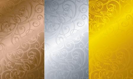 bronze background: Vintage Floral Texture Background 3 Illustration