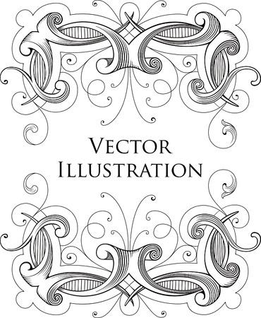 victorian: Vintage Floral Frame 1