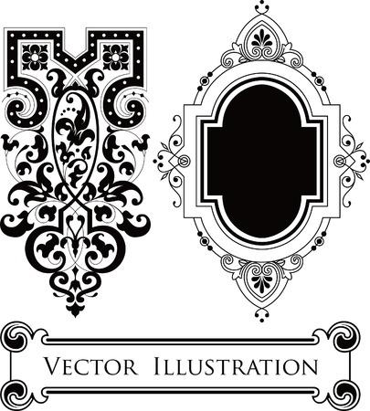 white victorian old retro vintage: Vintage Floral Design Elements