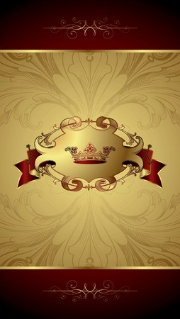 Royal Crown Background Stock Vector - 8487729