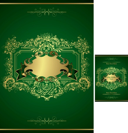 Gift Box Menu Cover Vector