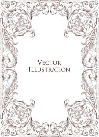 Vintage Floral Frame 7 Stock Vector - 8643436