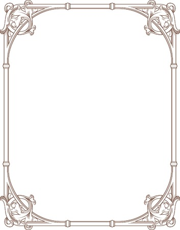 Vintage Floral Frame 5 Illustration