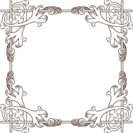 traced: Vintage Floral Frame 4