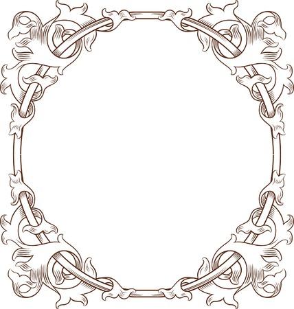Vintage Floral Frame 3 Stock Vector - 8643432