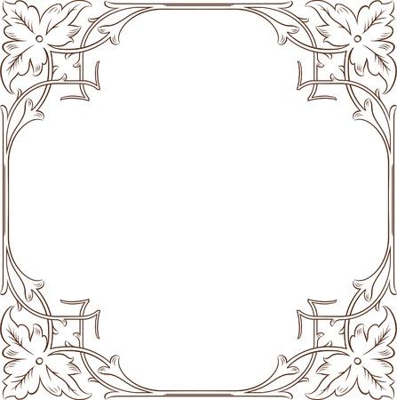 and tradition: Vintage Floral Frame 1