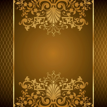 Elegant Floral Frame Background Stock Vector - 8703940