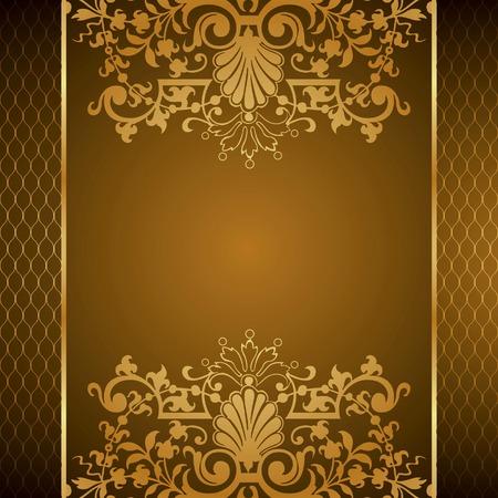 Elegant Floral Frame Background Illustration