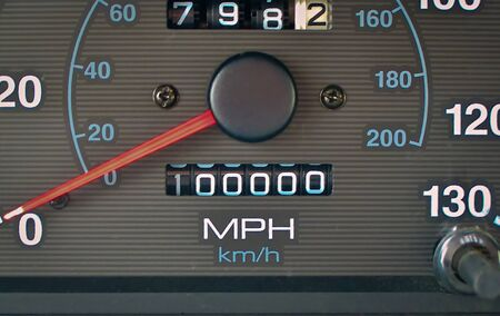 Non-digital odometer reaches the 100,000 mile mark