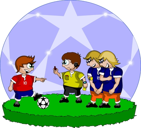 penalty: Penalty kick Illustration
