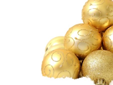 Christmas gold bals