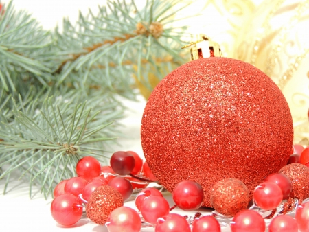 red Christmas decoration wallpaper