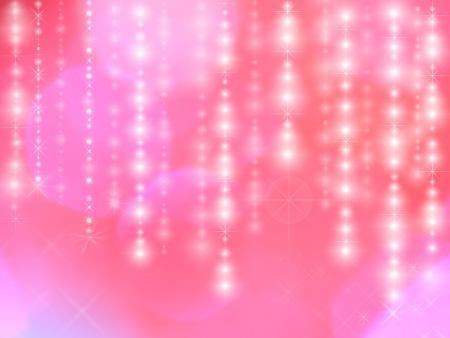 star lights on pink background photo