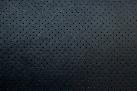 soft Black Perforated Leather texture background Stock Photo