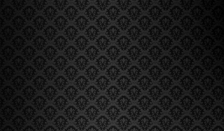 black silk: floral texture vintage ornate Seamless Damask wallpaper pattern