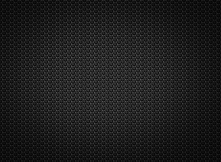 black Perforated  pattern of metal grille texture background