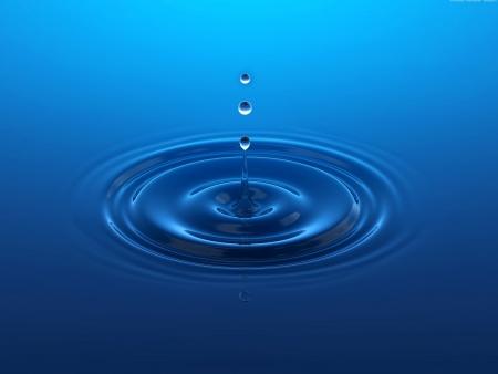Salpicar la gota de agua formando anillos Water Ripples