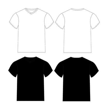 blank t-shirts template with black and white color photo