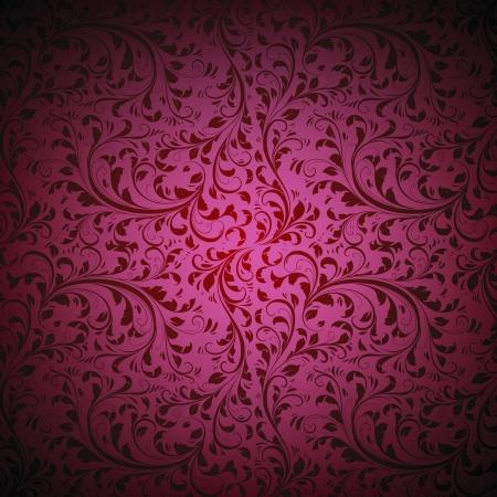 dark red Damask Seamless floral Pattern background texture
