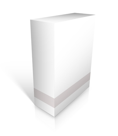 compact disk: Blank software box with shadows isolated on a white background