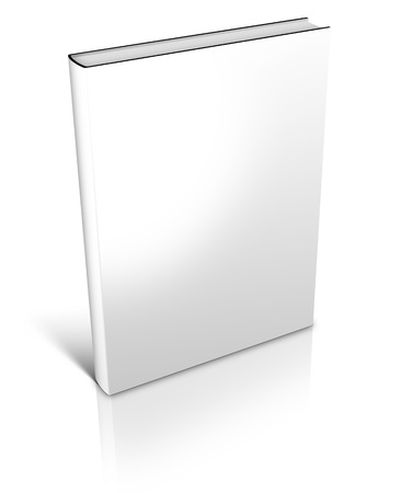 3D white Hard Cover Book isolated on white background Imagens
