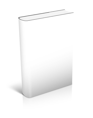 hardcovers: 3d white Book Standing whith shadows on white background