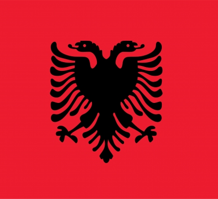 albanian: national flag of Albania country. world Albania background wallpaper