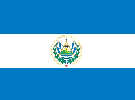 el salvador: national flag of el salvador country. world el salvador background wallpaper Stock Photo