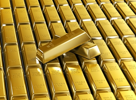 3d gold bars background wallpaper. luxury gold bars metal