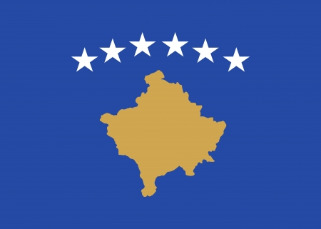 national flag of kosovo country  world kosovo background wallpaper photo