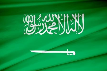 national flag of Saudi Arabia country. world Saudi Arabia background wallpaper Stock Photo