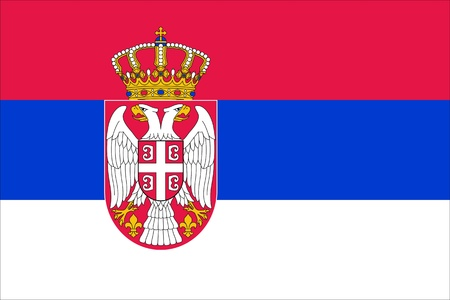national flag of Serbia country. world Serbia background wallpaper photo