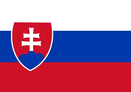 national flag of slovakia country. world slovakia background wallpaper photo