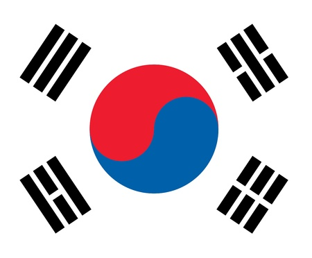 national flag of south korea country. world south korea background wallpaper photo