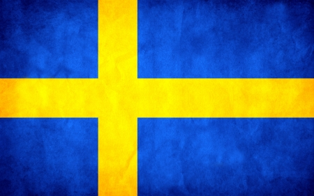 national flag of Sweden country. world Sweden background wallpaper photo