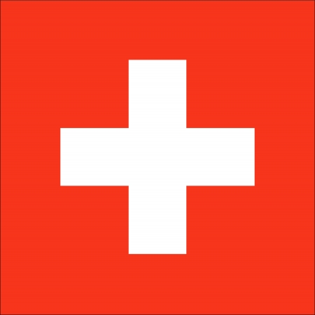 swiss culture: national flag of Switzerland country. world Switzerland background wallpaper Stock Photo