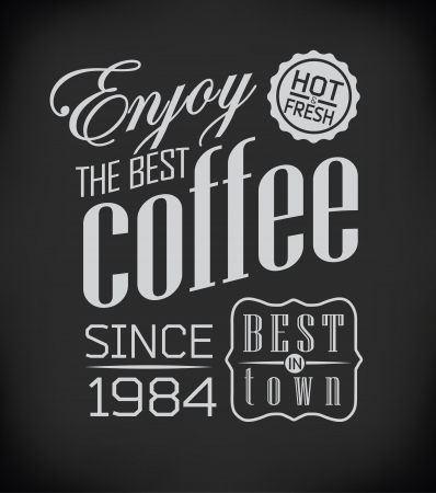Set of Vintage Retro Coffee  decoration Vector