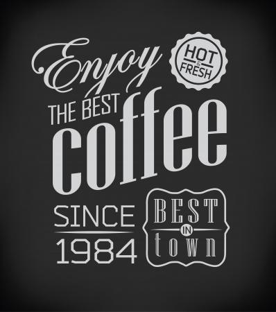 Set of Vintage Retro Coffee  decoration Stock Vector - 23474495