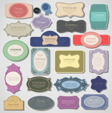 Set of retro vintage labels. Vector illustration. Stock Vector - 23474518