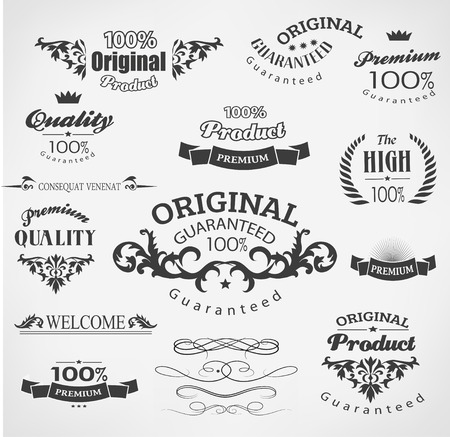 Vintage calligraphy, decoration design elements Vector