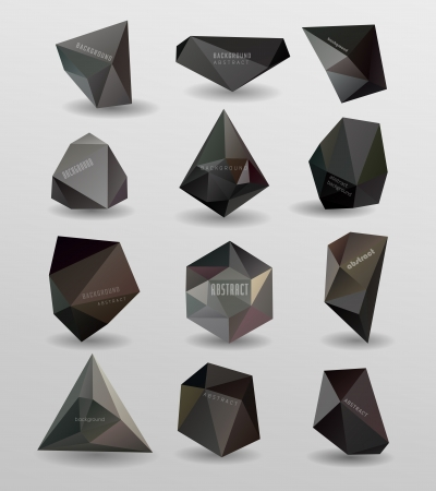 Abstract modern  polygonal bubble, label website header or banner vector set, can be used for website, info-graphics Vector