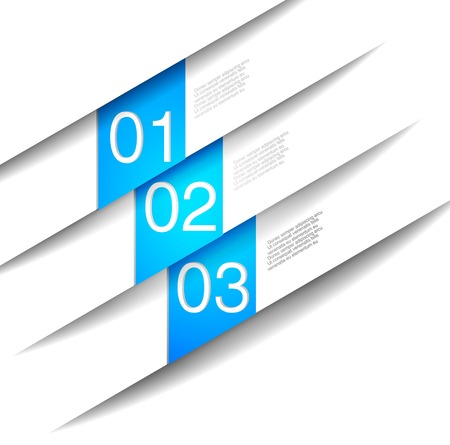 Abstract number Line  background for sample choice blue button vector Vector