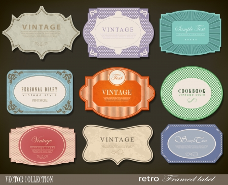Set of retro vintage labels. Vector illustration. Vector