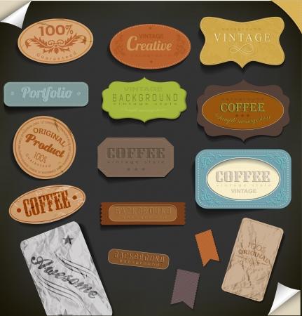 Set of retro vintage labels. Vector illustration. Stock Vector - 23719149