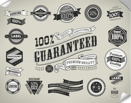 vintage retro premium quality sticker, label, element Vector