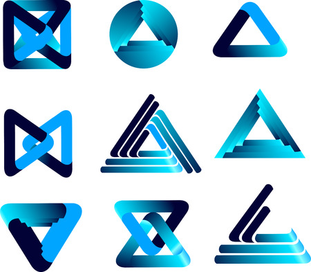 three-dimensional quality vector-icon with a lot of variety ideal for business , flayer and presentation Vector