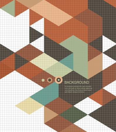 Abstract Book cover Background designretro mosaic brochure Vector